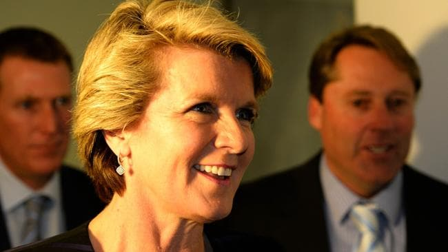 Foreign Minister Julie Bishop insists the Cabinet was selected on merit. Picture: AFP / Saeed Khan