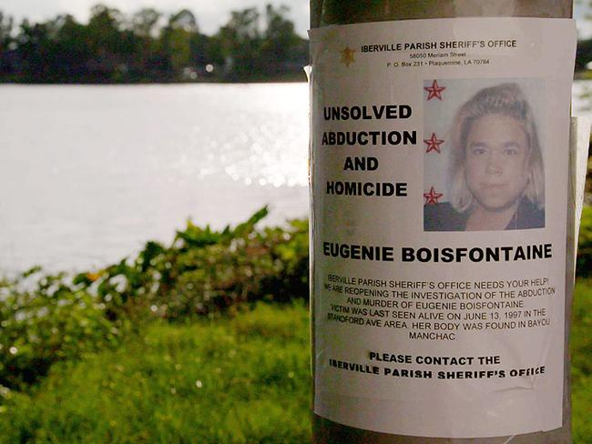 New posters appealing for information about the unsolved abduction and murder of Eugenie Boisfontaine have begun appearing around Iberville
