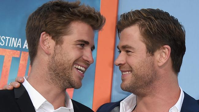 Liam and Chris are now great mates but it wasn't always that way. Picture: Kevin Winter/Getty Images