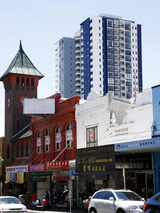 A high-rise building in George St, Burwood. Picture: John Appleyard