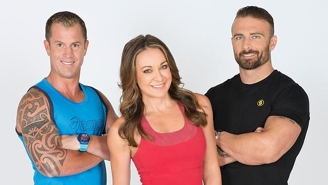 The three wheels of the Biggest Loser 2014. Picture: Channel Ten