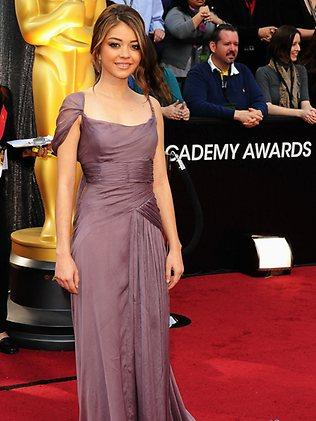Actress Sarah Hyland arrives at the 84th Annual Academy Awards held at the February 26, 2012. Picture: Jason Merritt/Getty Images/AFP