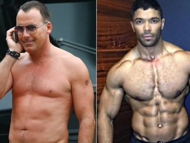 Friends or more ... David Furnish and Danny Williams, 33, are very close. Picture: Supplied