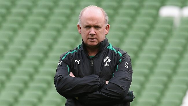REIGN OVER: The Irish Rugby Football Union has sacked Declan Kidney following his five-year reign as coach. Picture: David Rogers