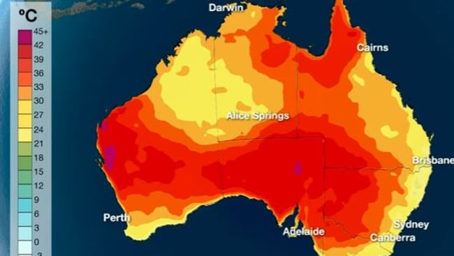 Christmas weather forecast cyclone yvette in wa hot weather in melbourne perth adelaide - Meteorology bureau australia ...