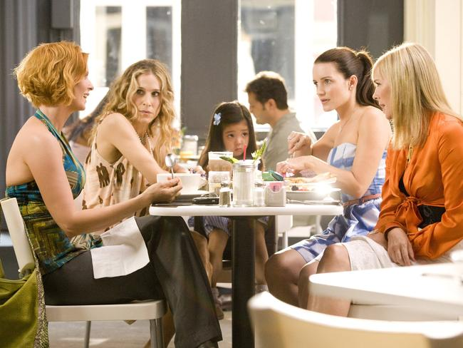 Cynthia Nixon, Sarah Jessica Parker, Kirstin Davis and Kim Cattrall in Sex And The City.