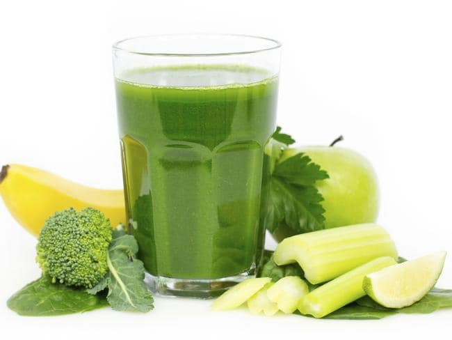 Not sufficient to beat the flu or even the common cold ... The green smoothie with vegetables and fruit.