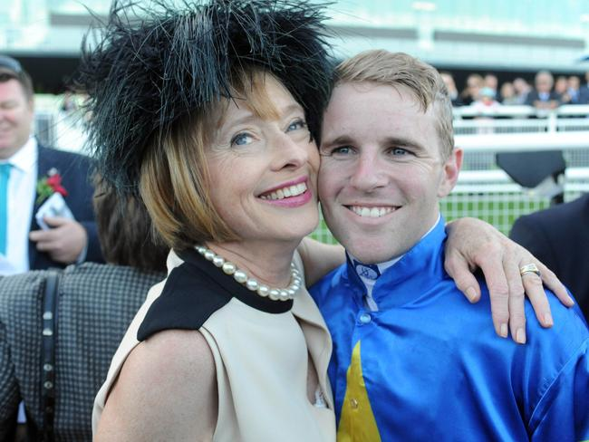 Gai Waterhouse and Tommy Berry after winning the Sydney Cup. Picture: Simon Bullard