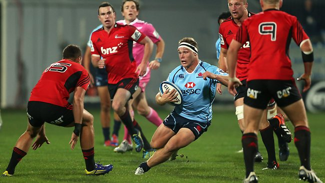 CHRISTCHURCH, NEW ZEALAND - MAY 31: Michael Hooper of the Waratahs runs with the ball in defender Israel Dagg of the Crusaders during the round 16 Super Rugby match between the Crusaders and the Waratahs at AMI Stadium on May 31, 2013 in Christchurch, New Zealand. (Photo by Joseph Johnson/Getty Images)