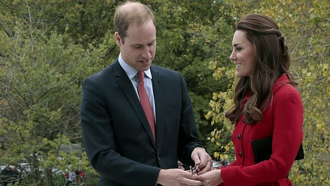William and Kate cut a ribbon during their NZ visit this week. WE HAVE RIBBONS IN VICTORIA TOO YOU KNOW. Picture: AP Photo