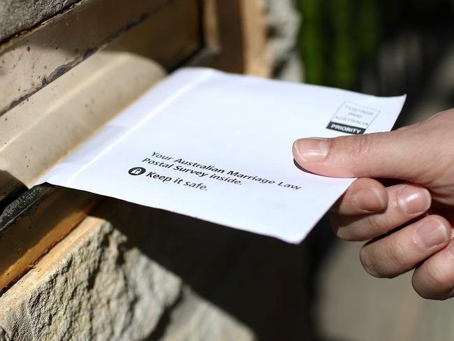 The postal survey has sparked an outpouring of vitriol from both sides of the debate. Picture: Cameron Spencer/Getty Images.