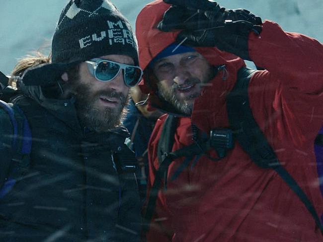 Scale the heights ... Jake Gyllenhaal (left, as Scott Fischer) and Jason Clarke (as Rob Hall) in Everest. Clarke said the family of Rob Hall were happy with the film. Picture: Universal Pictures.
