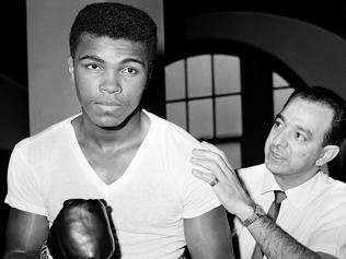Muhammad Ali with his trainer Angelo Dundee in 1962.