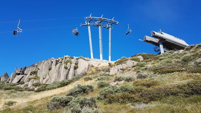 You can opt for the chairlift or hike the whole way to the top. Picture: Kirrily Schwarz