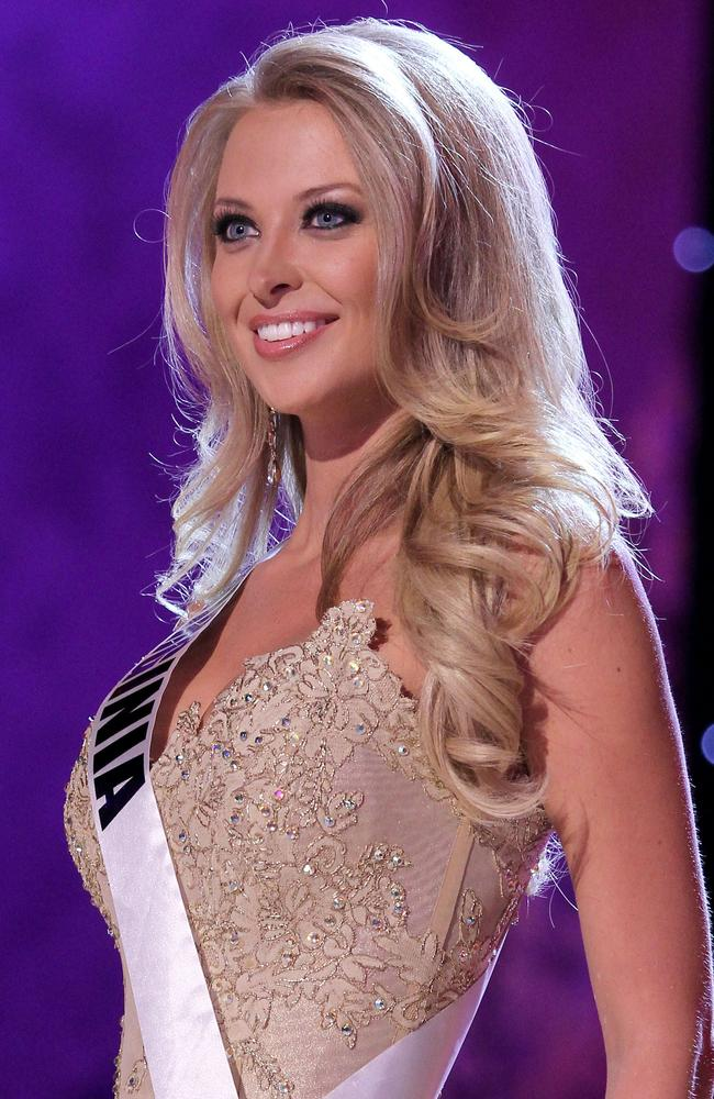 A former flatmate claimed Miss Virginia USA Nikki Poteet 2011 had attacked him a homophobic slur, which the glamorous blonde denied. Picture: Alamy.