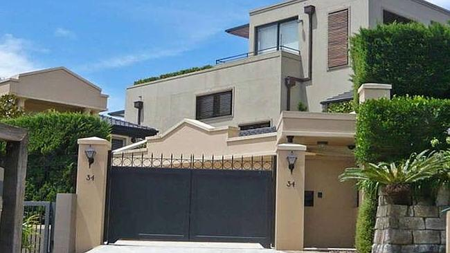 THE waterfront home in Julian St, Mosman, has four bedrooms. Picture: RP Data.