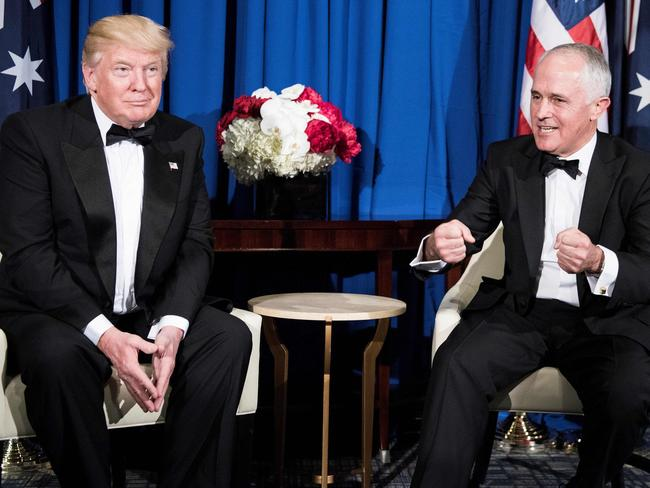 Turnbull later visited Trump in New York. Picture: AFP PHOTO / BRENDAN SMIALOWSKI