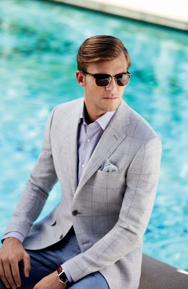 Brooks Brothers menswear range, including exquisitely fitting suits, are available at select David Jones stores.