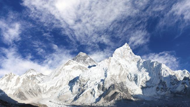 A panoramic view of Mount Everest.