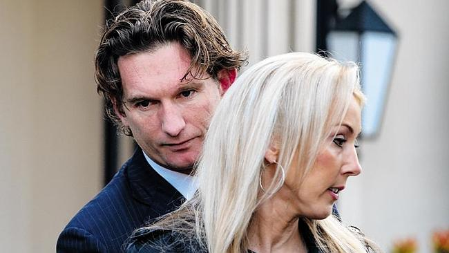 Seen but not Hird: Tania Hird has chosen not to play the silent wife, but has pleaded her husband's case in the public domain in recent days.
