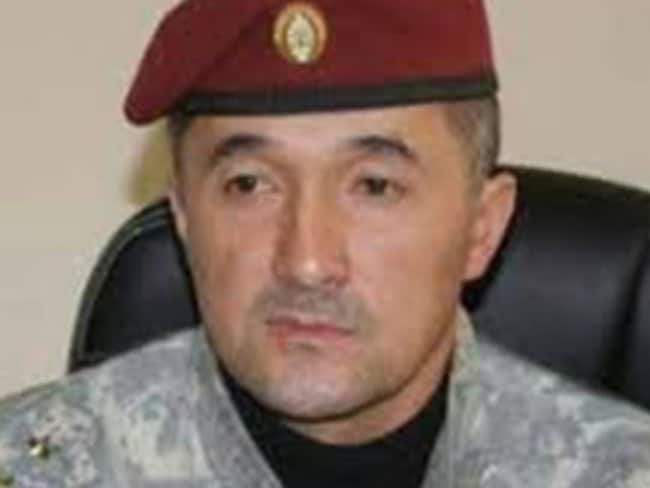 A clean-cut Colonel Khalimov when he was chief of Tajikstan's special police force, before his defection to IS last year.