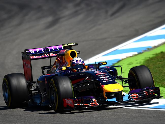Daniel Ricciardo of Australia and Red Bull Racing in action at the German Grand Prix.