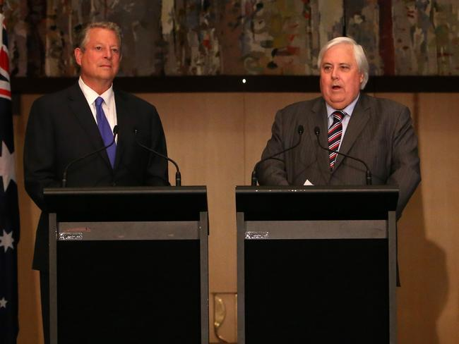 "Odd couple: But Al Gore says of Clive Palmer ""I like him""."
