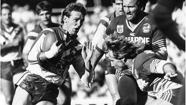 Mick Potter during his playing days for the Bulldogs. Picture: Library Nwn