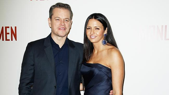 Matt Damon was already a blockbuster film star when he met his wife Luciana Barroso, then a bartender, in 2003. Picture: Getty Images