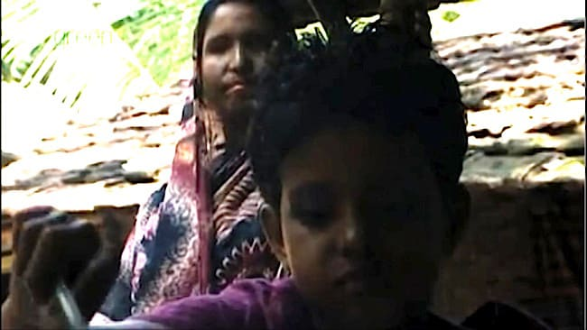 Nurbanu pictured with her young daughter.