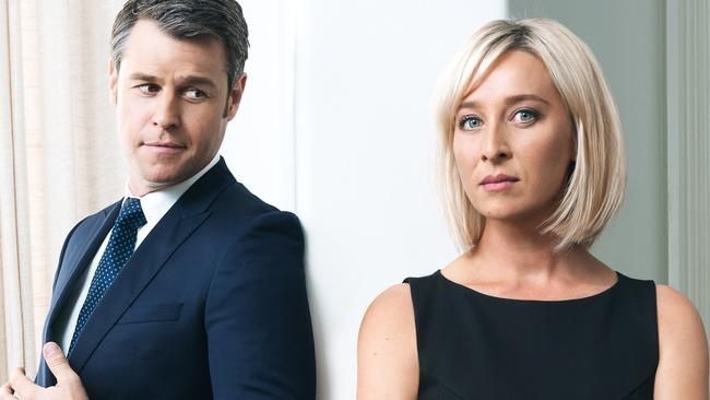 Branching out ... Rodger Corser as David McLeod and Asher Keddie as Kate Ballard in TV series Party Tricks.
