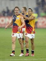 <p><span>Adelaide 2008</span><br /> <span>Every time the Crows wore this jumper in Melbourne there were suspicions that KFC and Red Rooster were about to face a threat from a new fried chicken chain.</span></p>