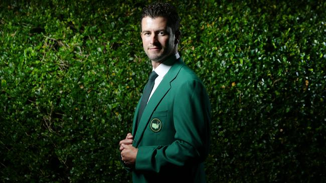 Adam Scott wearing the green jacket. Picture: Marsden Luke