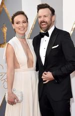Olivia Wilde and Jason Sudeikis attend the 88th Annual Academy Awards on February 28, 2016 in Hollywood, California. Picture: Getty