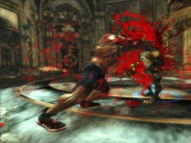 Glorifying violence ... an image from video game 'Splatterhouse'.
