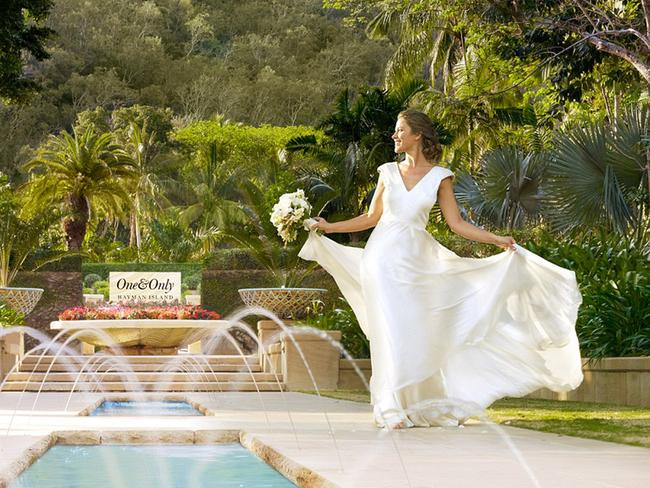 The resort hosts weddings for an exclusive clientele. Picture: Supplied