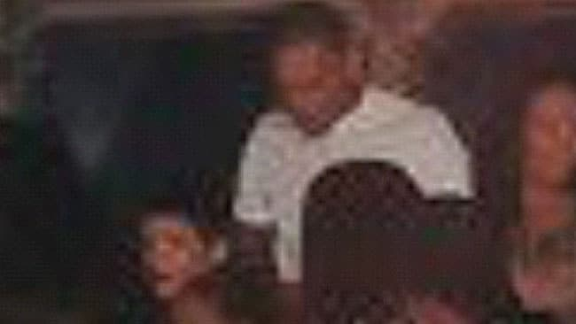 A grainy image of Chris Brown and Rihanna interacting at Griffin nightclub in Manhattan. Picture: chrisbrownnation/Twitter
