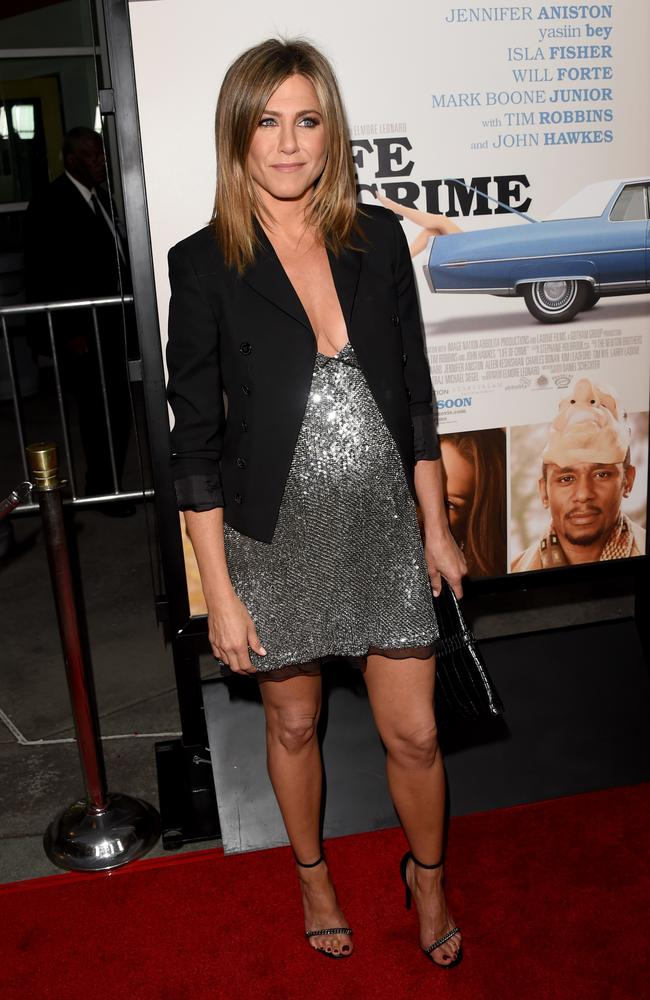 Jennifer Aniston attends the premiere of Life of Crime in Hollywood.