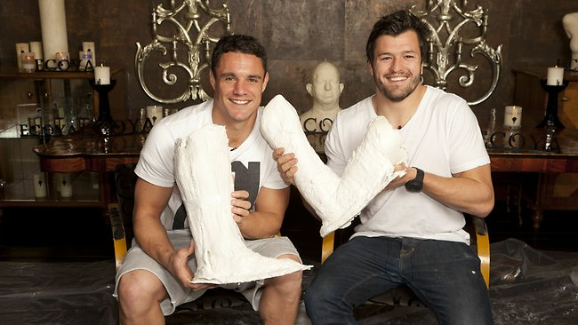 Dan Carter and Adam Ashley Cooper for Ecoya Charity drive. Picture: supplied