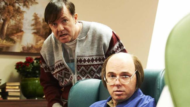 Derek (Ricky Gervais) with Dougie (Karl Pilkington) in Derek.