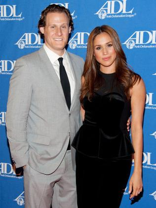 Meghan and her then husband Trevor Engelson in 2011. Photo: Amanda Edwards/Getty Images