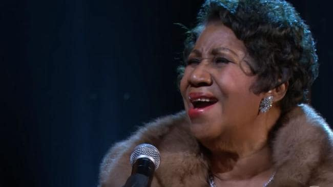 She's the boss ... Aretha Franklin gave a powerhouse performance.