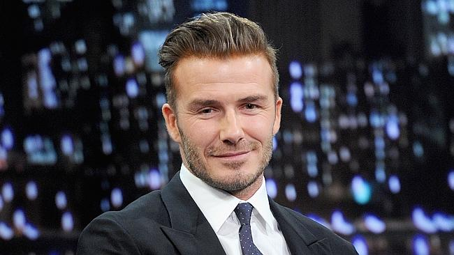 David Beckham is not just a pretty face. He also has great hair. Picture: Getty Images