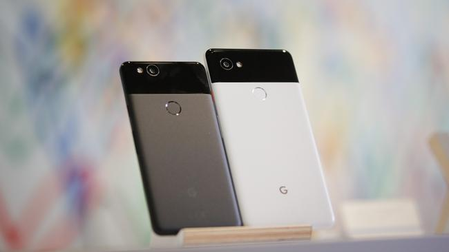There's still only one camera on the back of Google's Pixel 2 smartphones. Picture: AFP PHOTO / Elijah Nouvelage