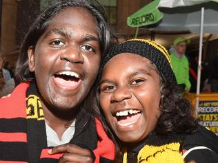 Fans at the Dreamtime MCG