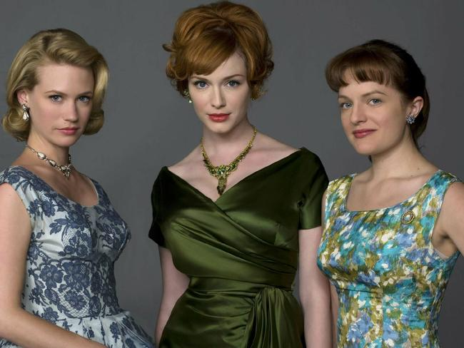 17/12/2008 LIBRARY: (L-R) January Jones, Christina Hendricks and Elizabeth Moss from tv series 'Mad Men' (2008).