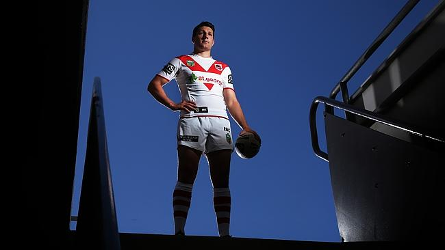 St George Dragons Gareth Widdop ready for the 2014 NRL. Pic Brett Costello