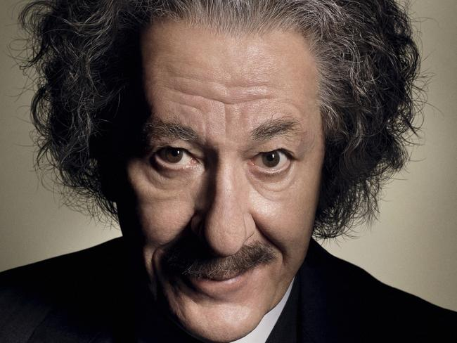 Geoffrey Rush as Albert Einstein in Genius. Picture: Foxtel