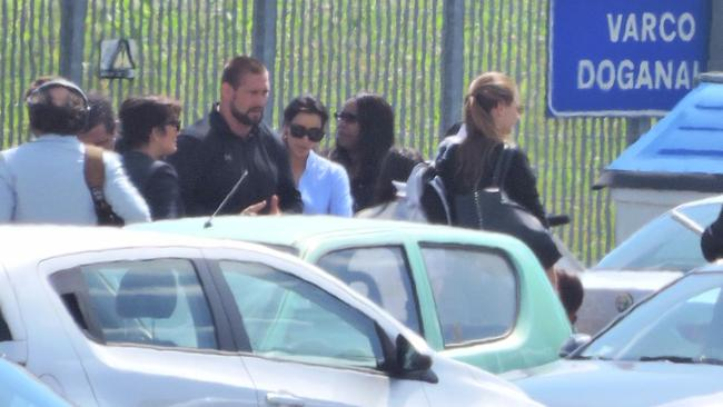 Kim at Florence airport.
