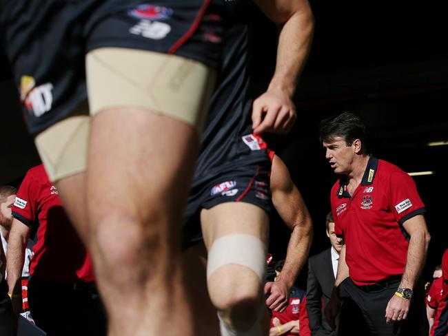 Paul Roos urges his players on. Picture: Colleen Petch